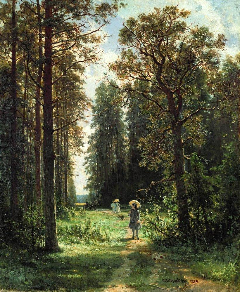 the-path-through-the-woods-1880-oil-on-canvas-1880