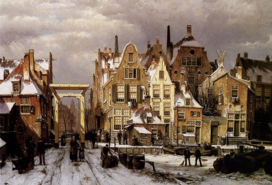 Koekkoek-Willem-Winter-city-view-1-Sun