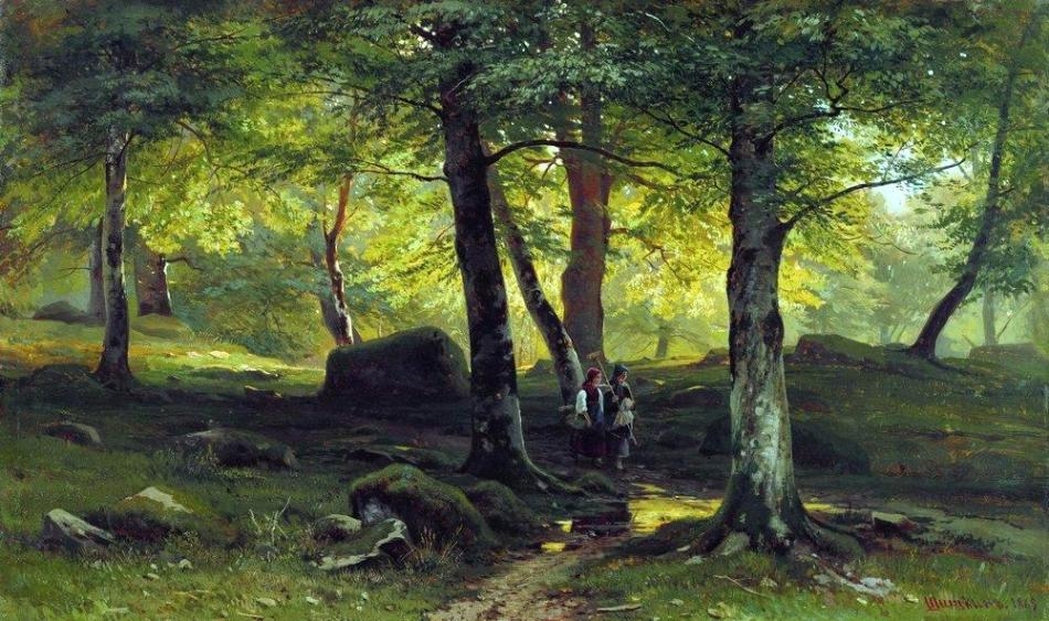 1865 In the Grove oil on canvas