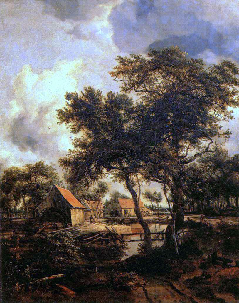 Hobbema_Meyndert_The_Water_Mill_1660s