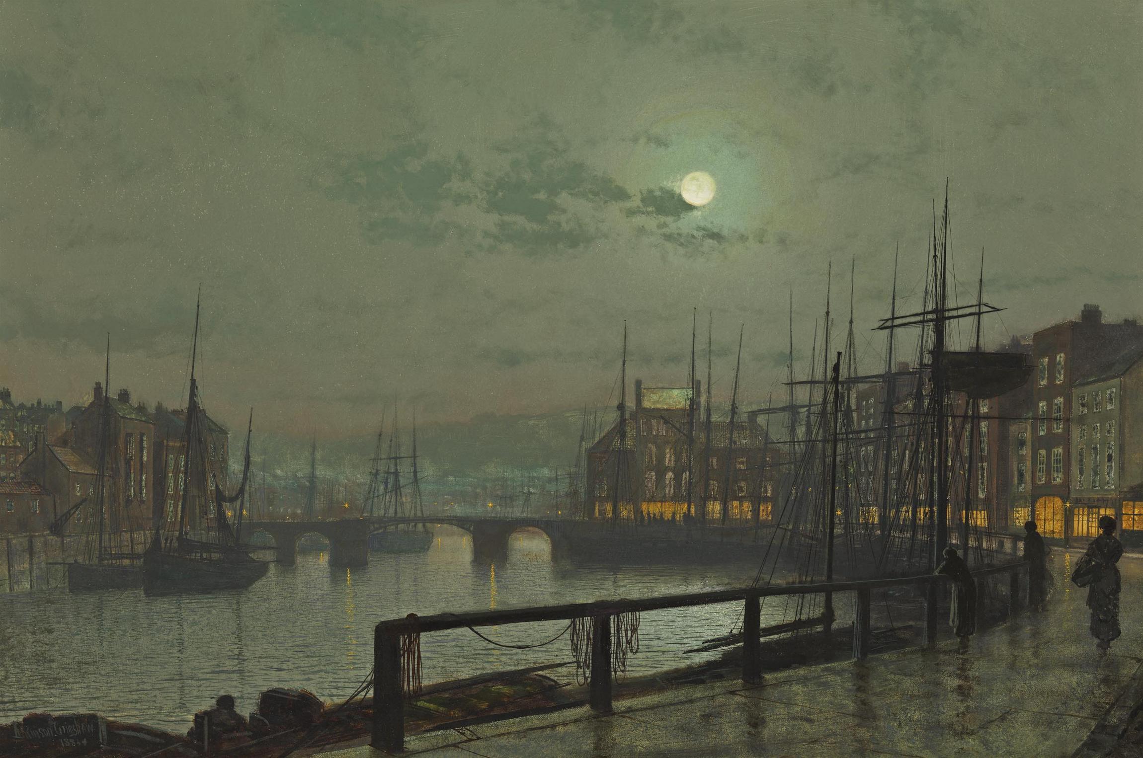 John Atkinson Grimshaw M S Rau Antiques Whitby 1883 Elsewhere