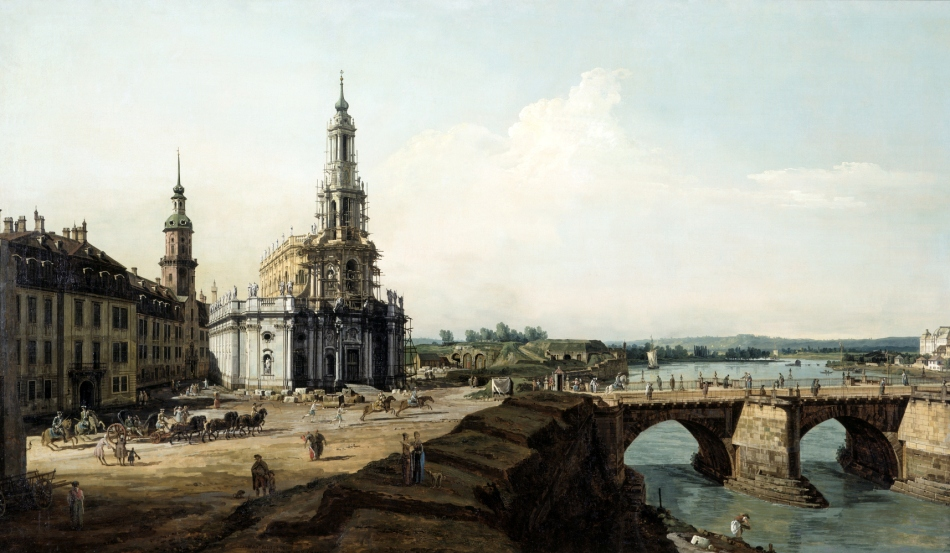I.6.-1372_ Bellotto_ Dresden vom__ linken Elbufer