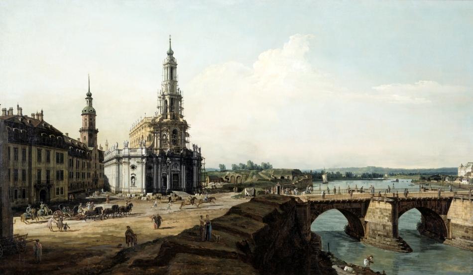 I.6.-1372_ Bellotto_ Dresden vom__ linken Elbufer