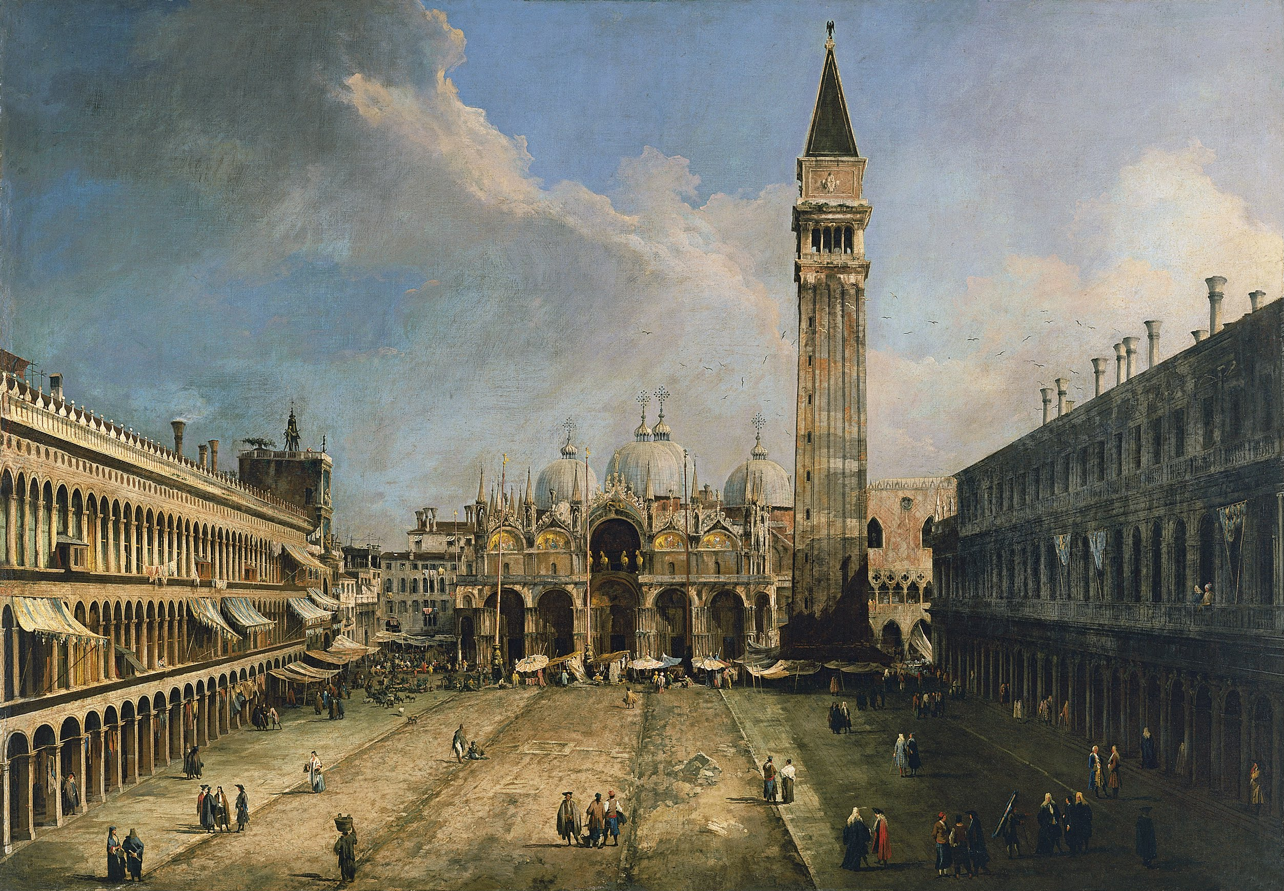 Canaletto – Museo Thyssen-Bornemisza 75 (1956.1). La plaza de San ...