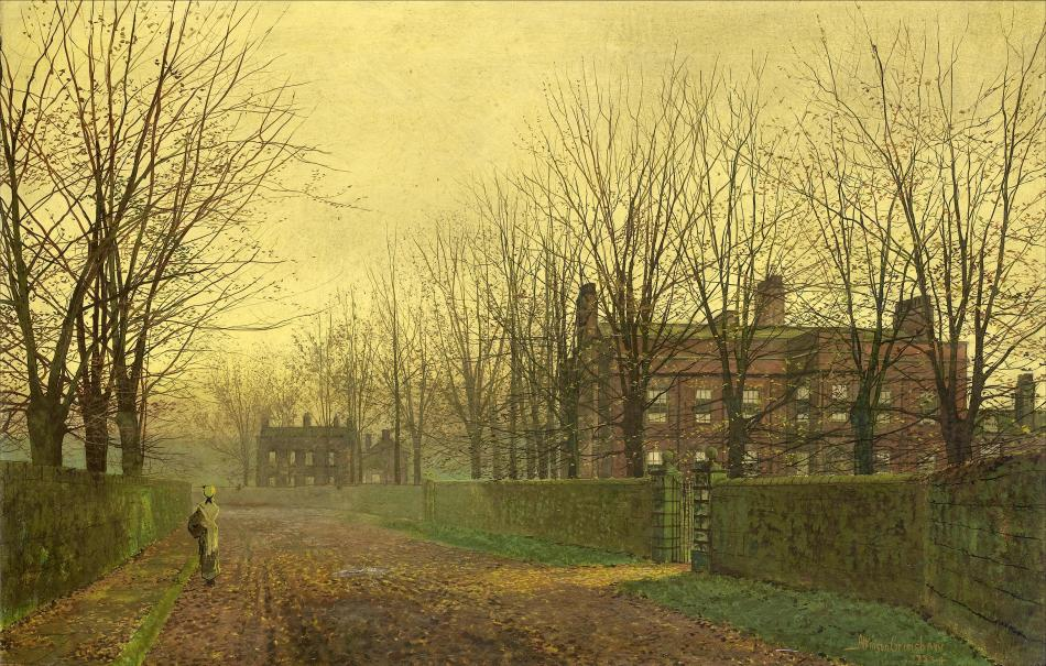 John-Atkinson-Grimshaw-Paintings-Autumn-Afterglow-1883