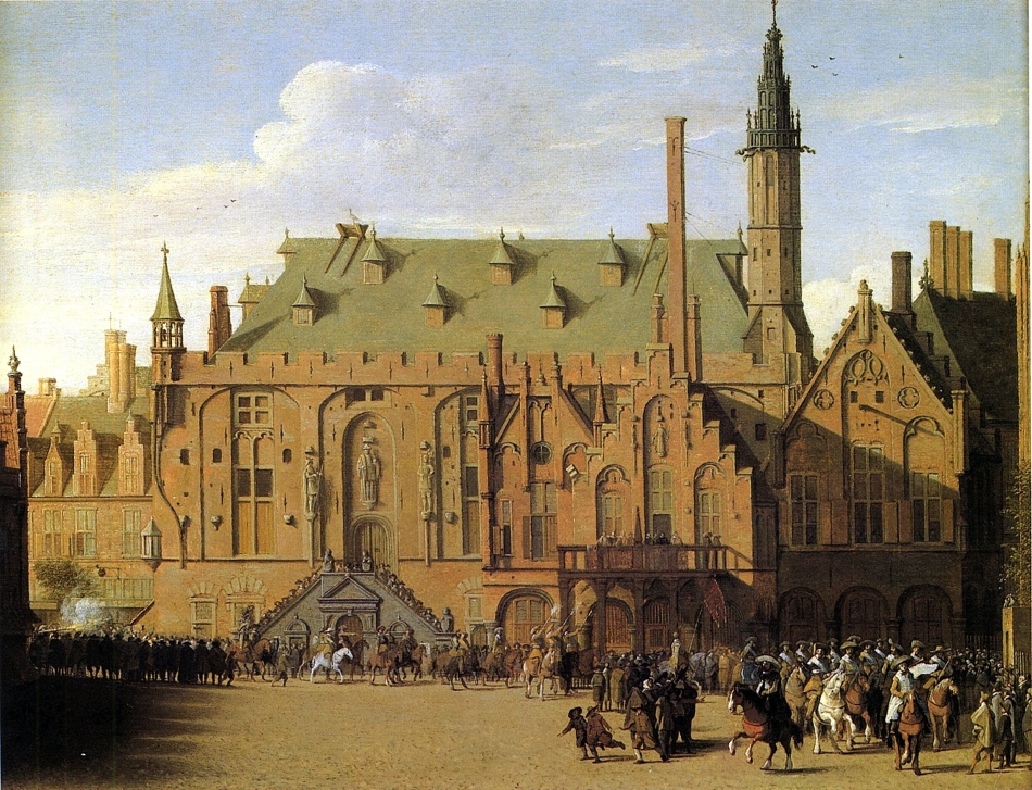 The_Town_Hall_of_Haarlem_with_Prince_Maurits_Replacing_the_Town_Government