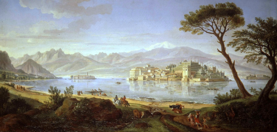 Vanvitelli, View of the Borromeon Islands (49 x 97.5 cm)