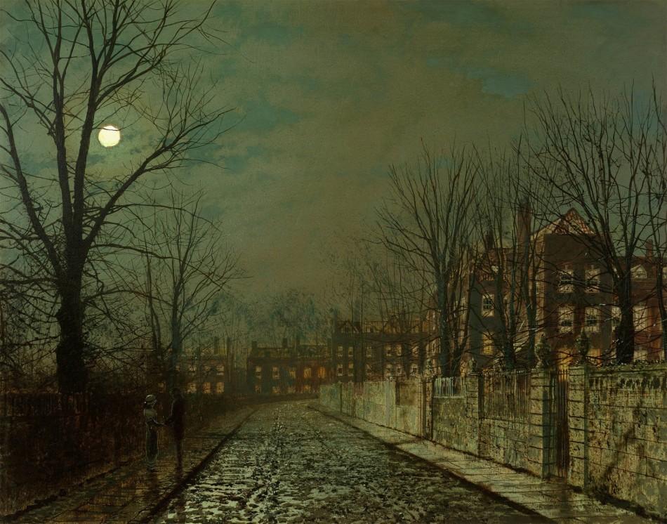 John-Atkinson-Grimshaw-Paintings-The-Trysting-Tree-1881