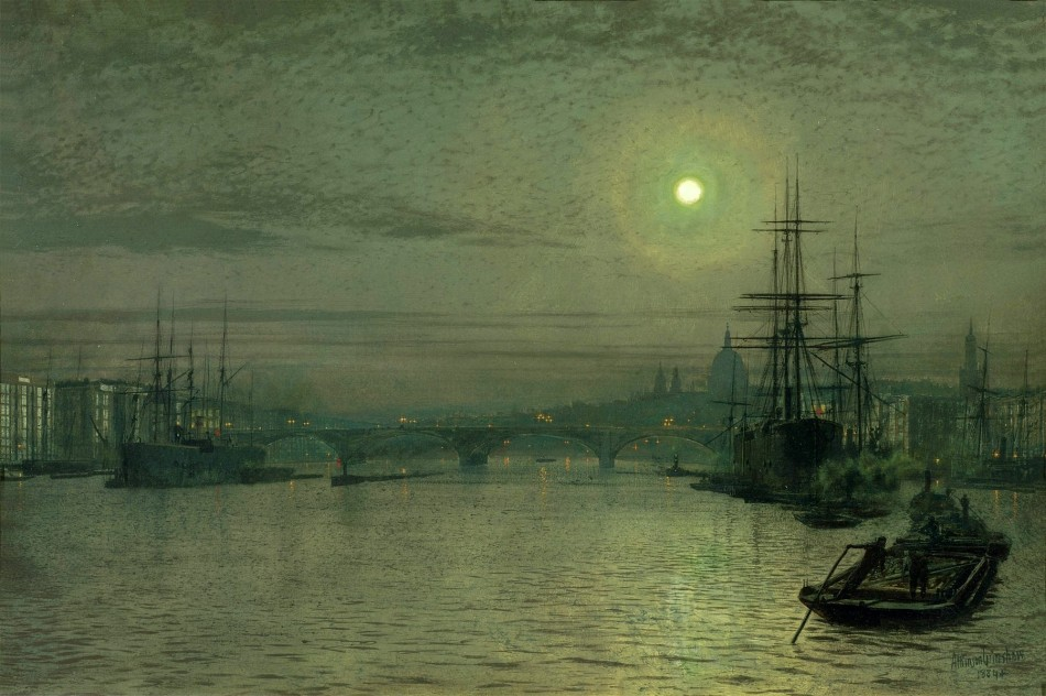 John-Atkinson-Grimshaw-Paintings-London-Bridge-by-Night-1884