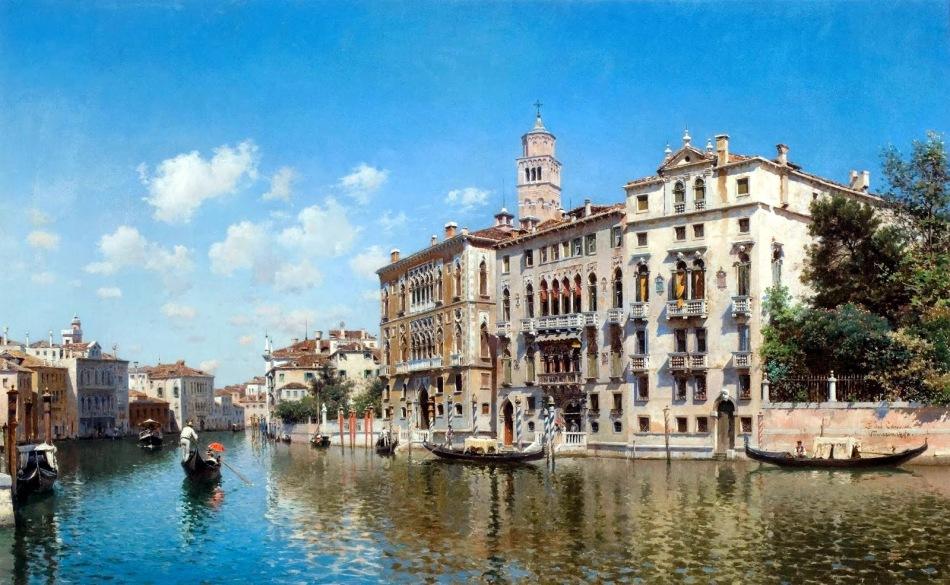 FEDERICO DEL CAMPO - Palazo Cavalli-Franchetti, Veneza - Óleo sobre tela - 63,5 x 88,8 - 1890