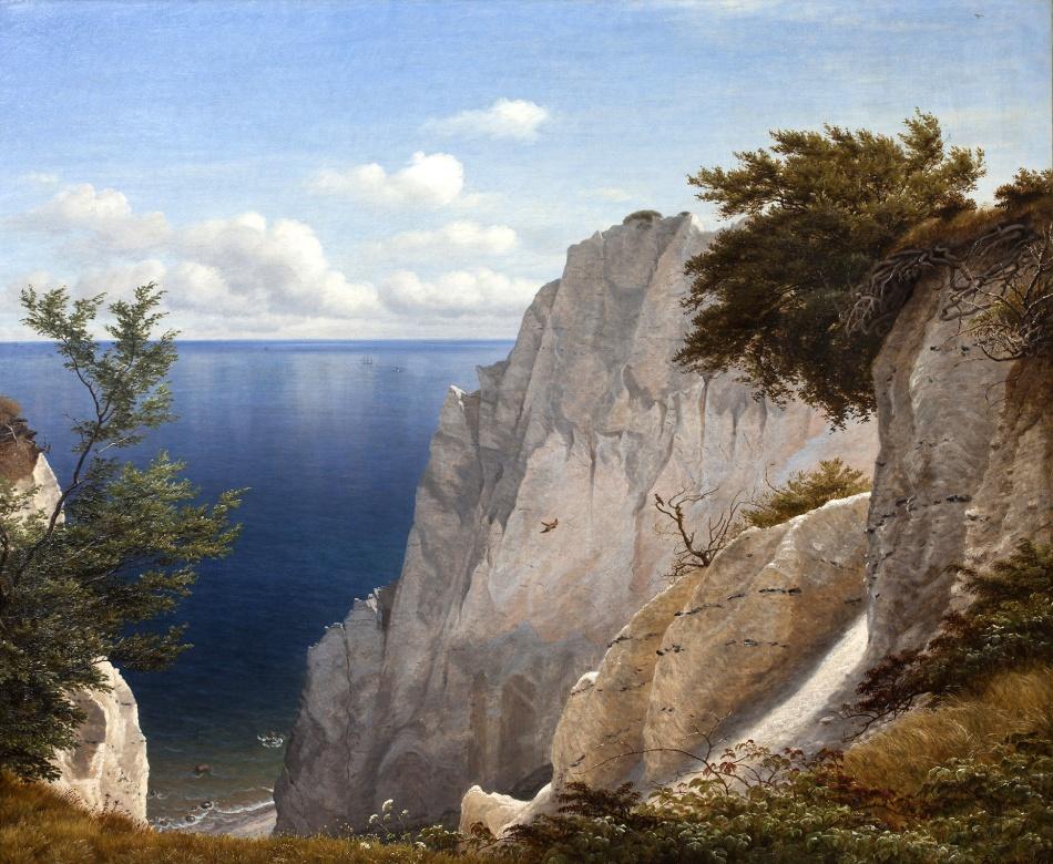 Udsigt_over_havet_fra_Taleren_på_Møns_Klint,_1851