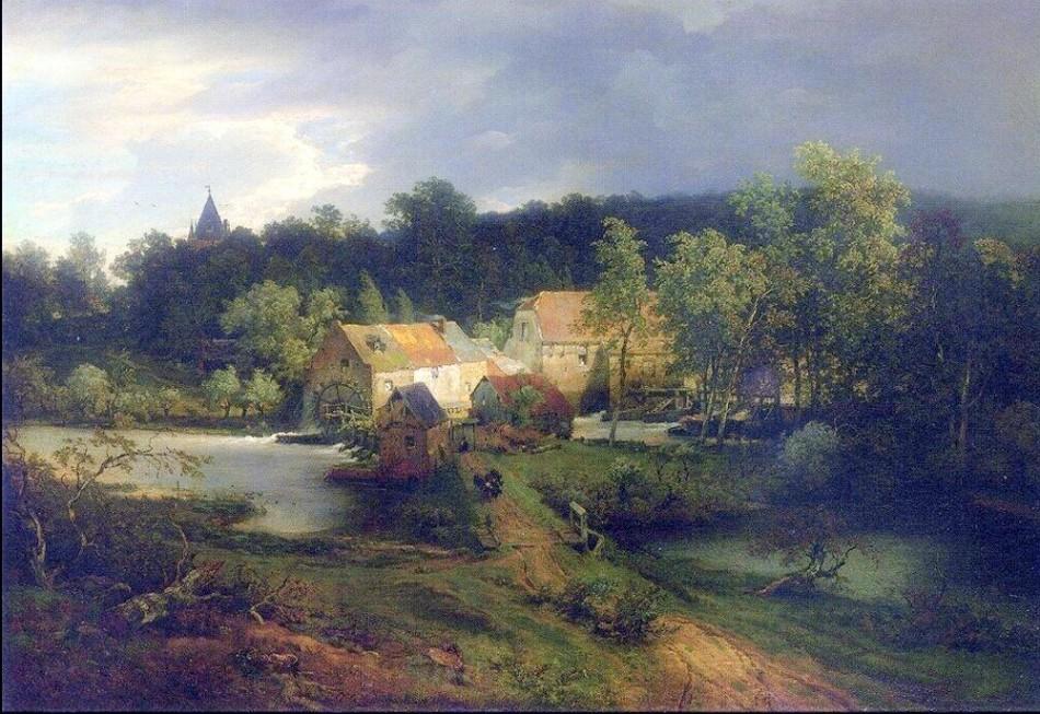 achenbach_andreas_001_il_mulino_nel_villaggio_1867