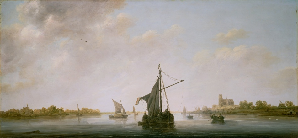 Aelbert_Cuyp_(Dutch_-_A_View_of_the_Maas_at_Dordrecht_-_Google_Art_Project