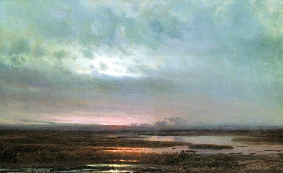 Alexei Savrasov - Sundown over a Marsh