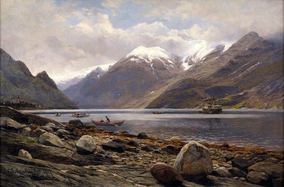 Themistocles_von_Eckenbrecher_Blick_auf_den_Folgefond-Gletscher_am_Sörfjord_1917