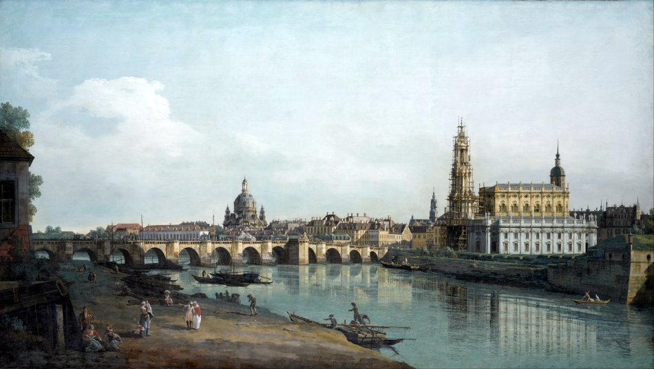 Canaletto_-_Dresden_seen_from_the_Right_Bank_of_the_Elbe,_beneath_the_Augusts_Bridge_-_Google_Art_Project
