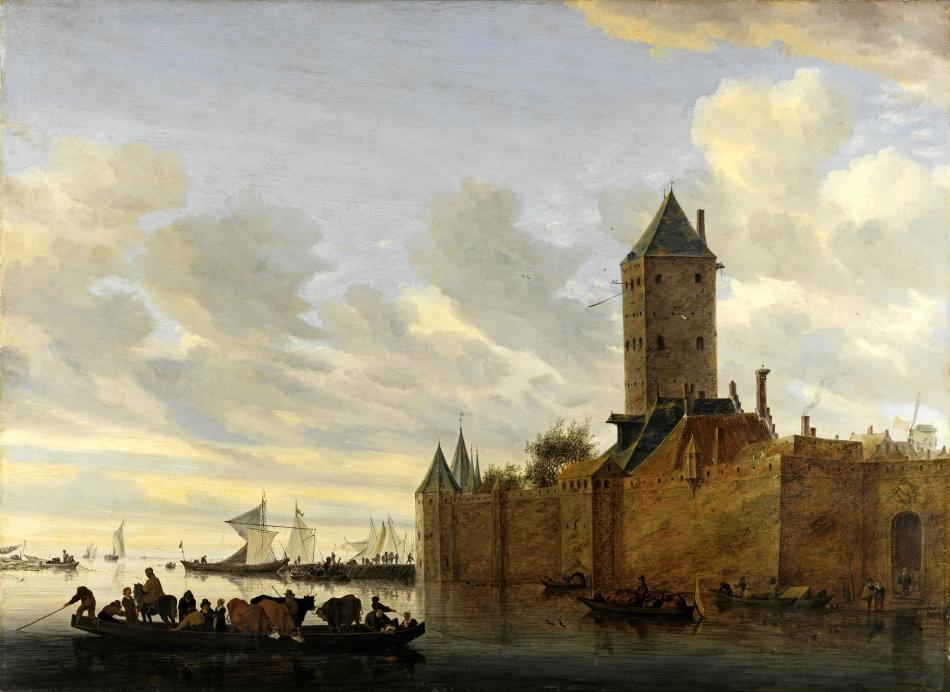 Salomon_van_Ruysdael__Flussmuendung_mit_befestigter_Stadt_1648__Eichenholz__84_3_x_115_5_cm__c__Landesmuseum_Hannover