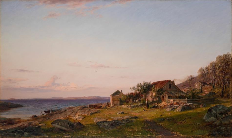 Amaldus_Nielsen_-_Aftenstemning_(1883)