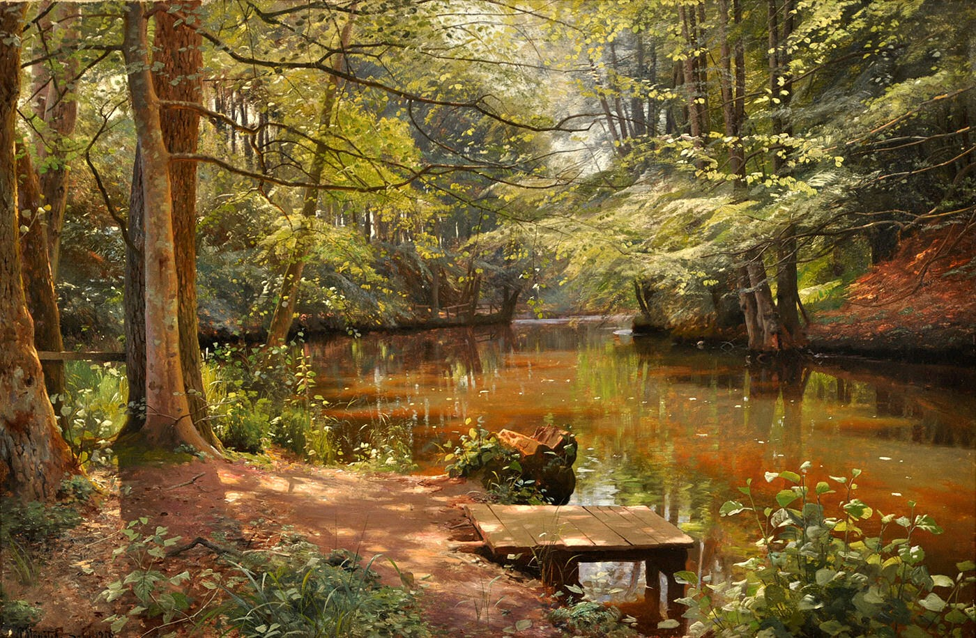 Peder Mork Monsted Floresta Saeby Leo Sobre Tela 80
