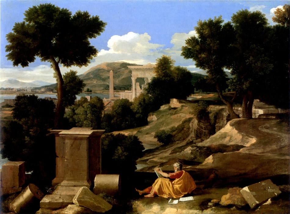 Poussin_-_Paysage_avec_saint_Jean_à_Patmos_-_Chicago_Art_Institute