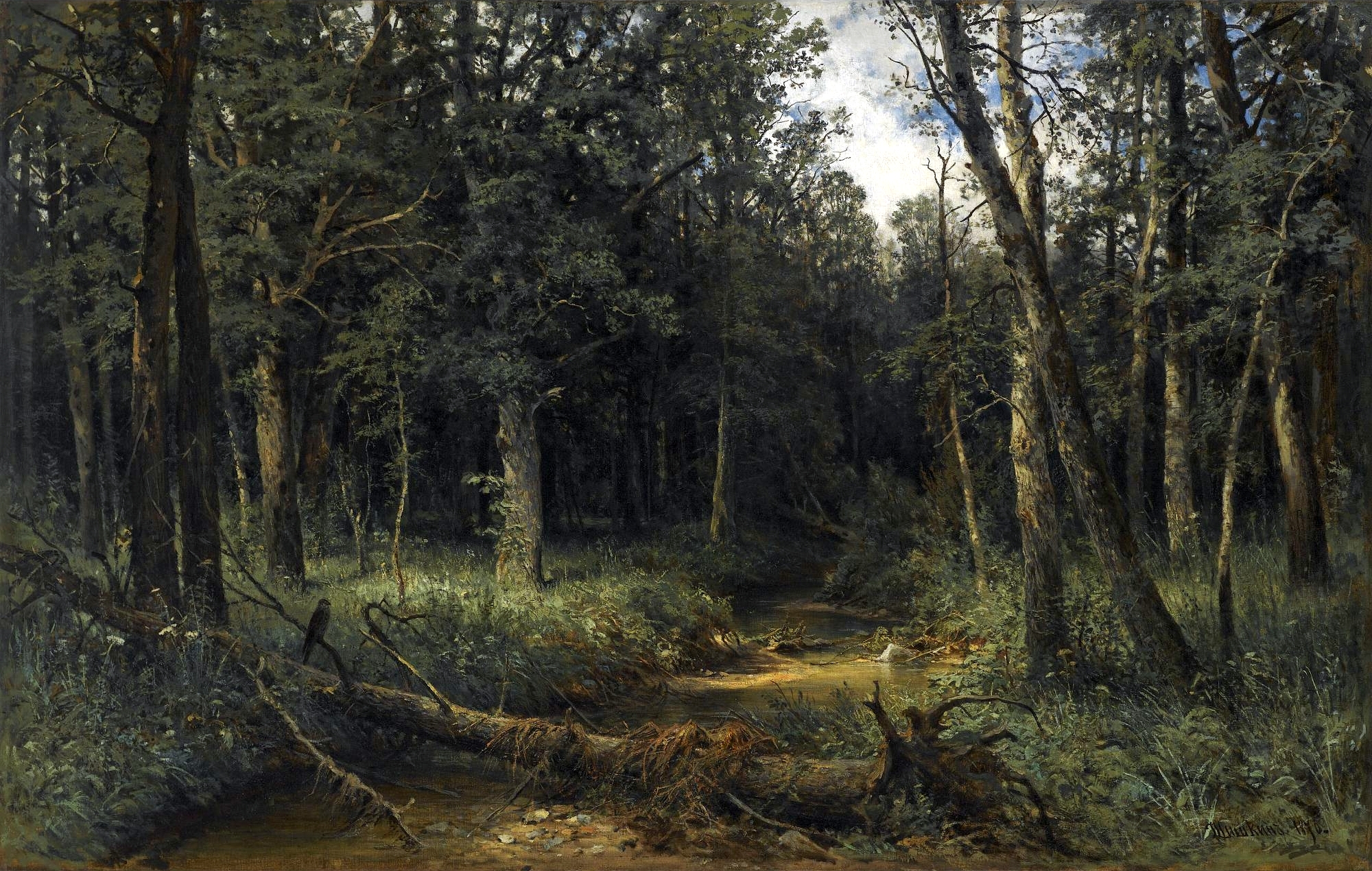 Ivan Shiskin – private collection. Темное дерево/The ...Famous Forest Paintings