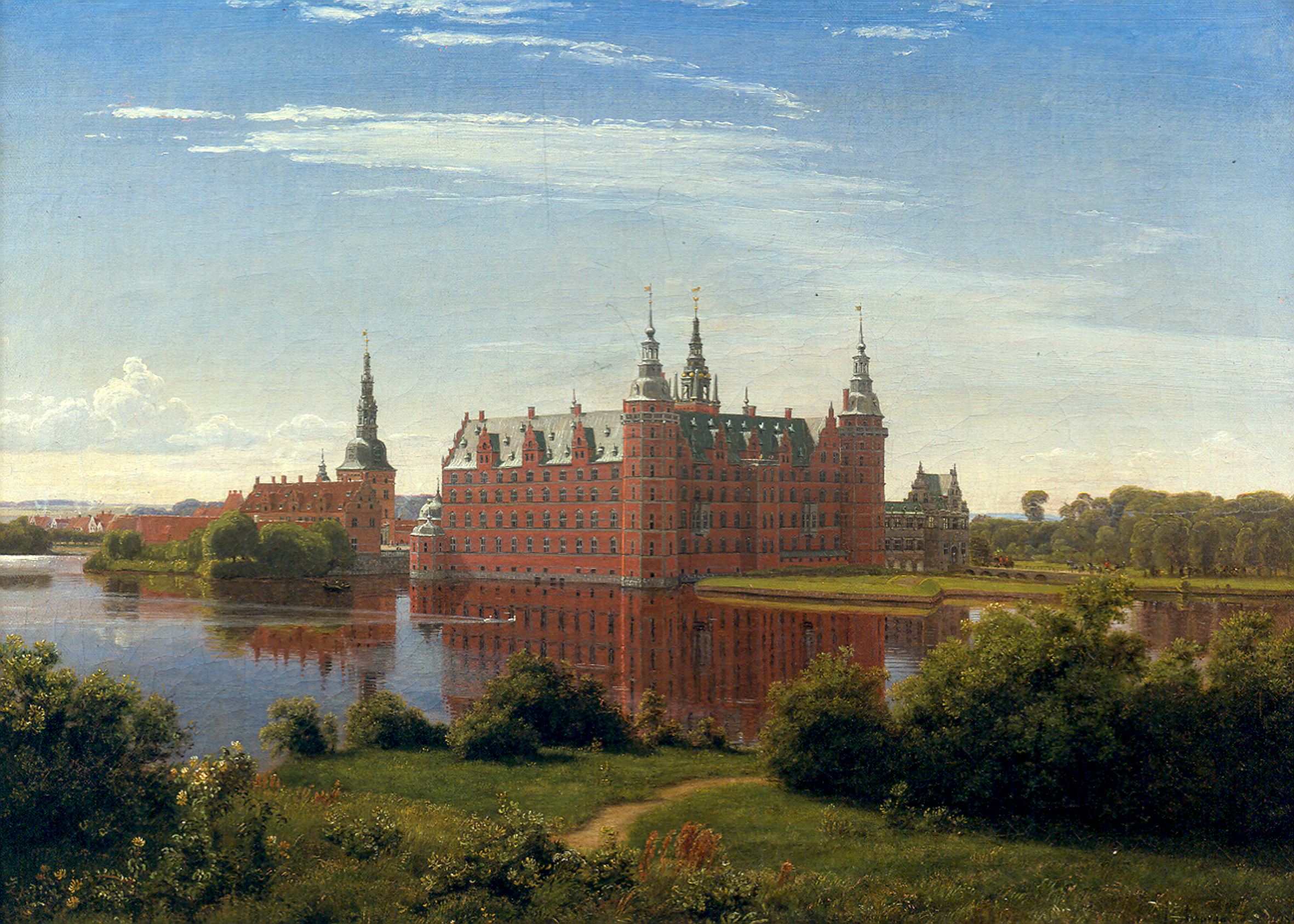 Frederiksborg_1841_by_P.C._Skovgaard