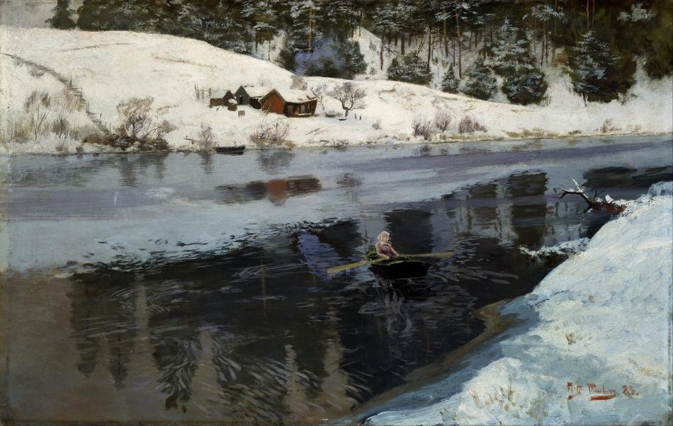 Frits_Thaulow_-_Winter_at_the_River_Simoa_-_Google_Art_Project