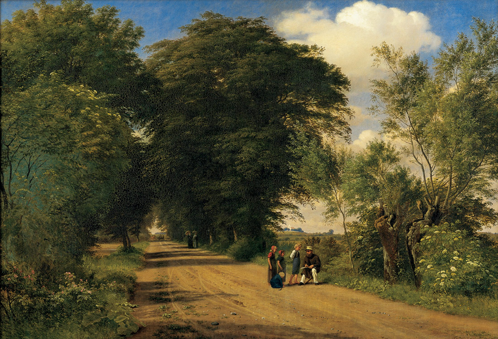 Peter Christian Skovgaard – Statens Museum for Kunst KMS580. A Country Road near Vognserup Manor ...