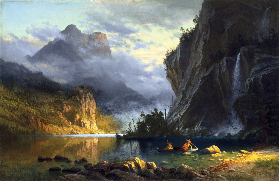 Albert_Bierstadt_-_Indians_spear_fishing_(1862)