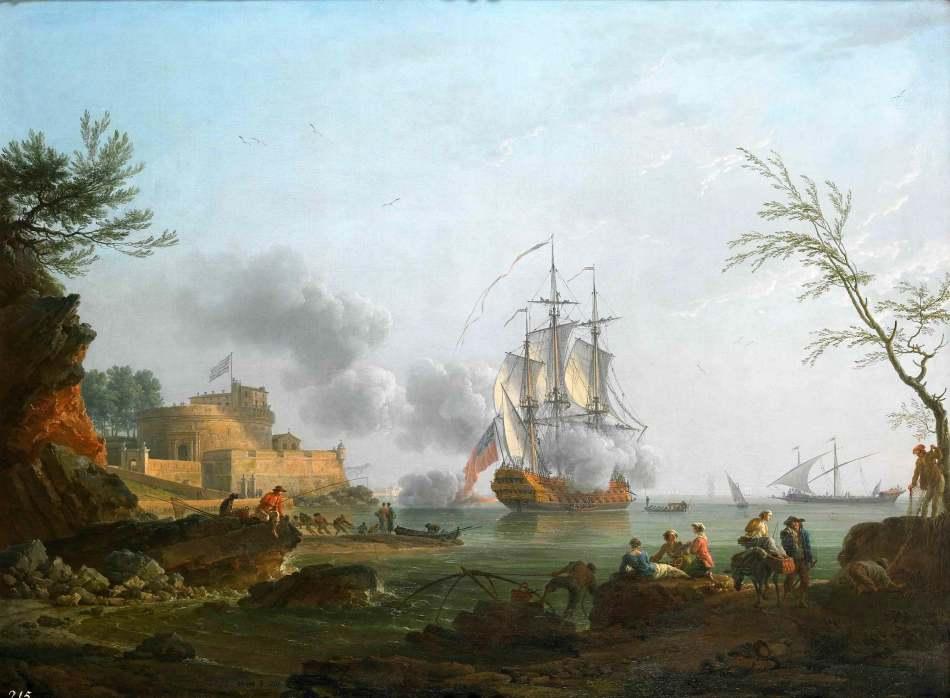 Entree_d_un_port_avec_un_navire_tirant_une_salve_Claude_Joseph_Vernet