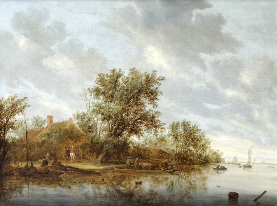 River_Landscape_with_Ferry_Salomon_van_Ruysdael_1644