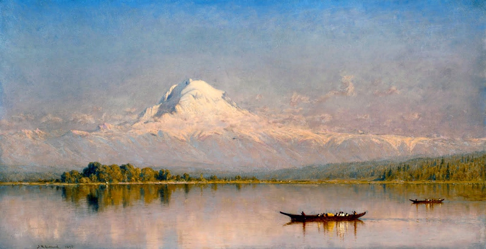 Sanford Robinson Gifford - Mount Rainier, Bay of Tacoma, Puget Sound