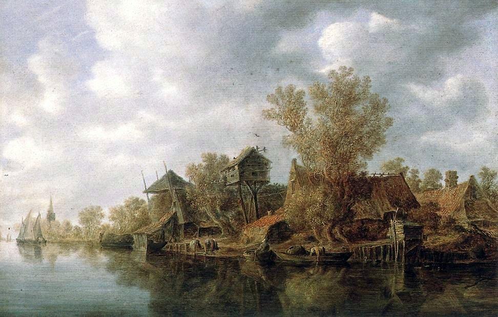 Goyen_1636_Village_at_the_River