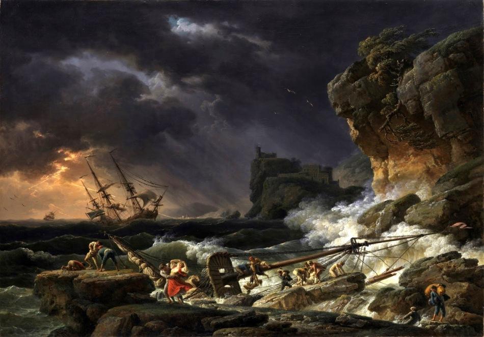 HAYDN - Claude-Joseph Vernet - Tempete de mer avec epaves de navires