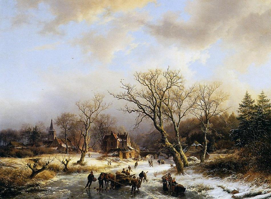 Koekkoek-Barend-Winterlandscape-Sun