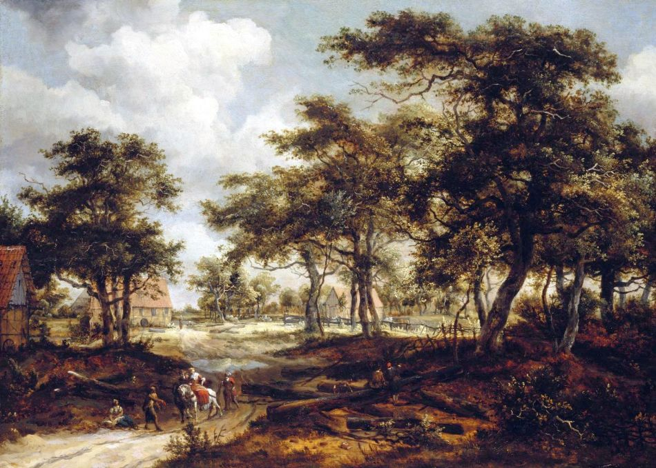 Meindert_Hobbema_-_Wooded_Landscape_with_Travellers_and_Beggars_on_a_Road