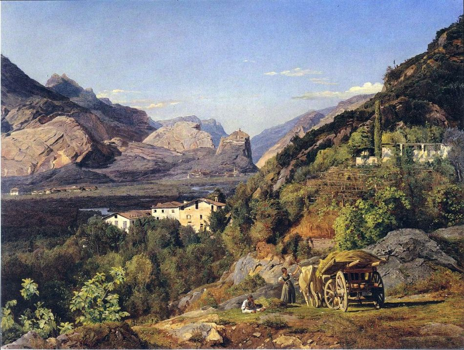 1280px-Waldmüller_-_Gebirge_von_Arco_bei_Riva