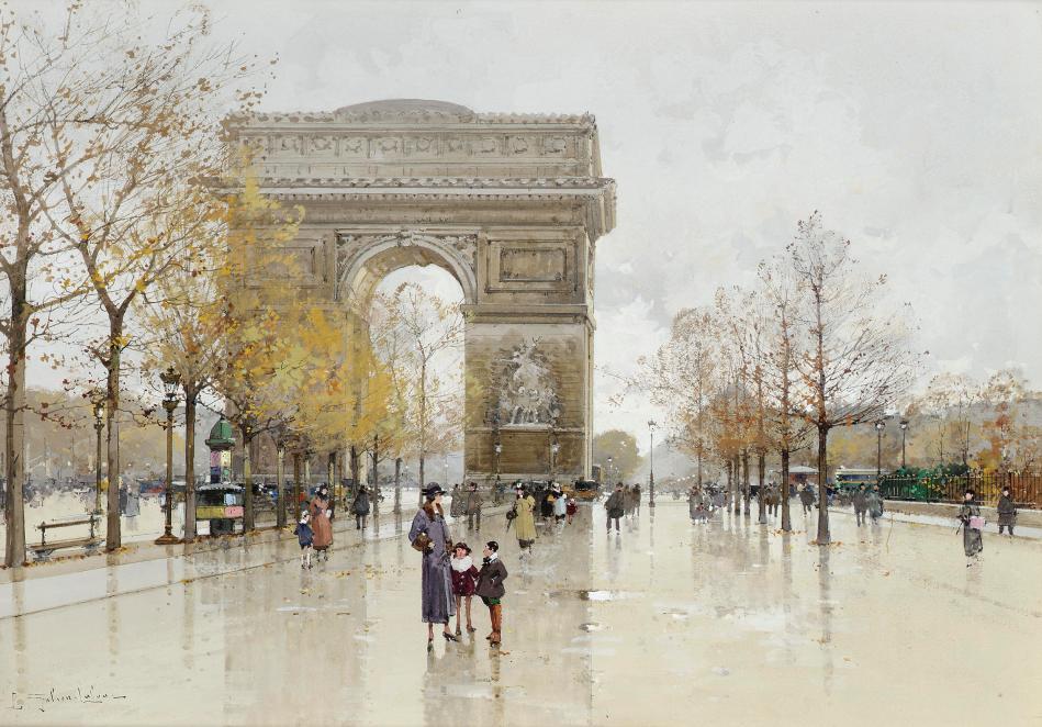 Eugène_Galien-Laloue_Paris_Arc_de_Triomphe_2