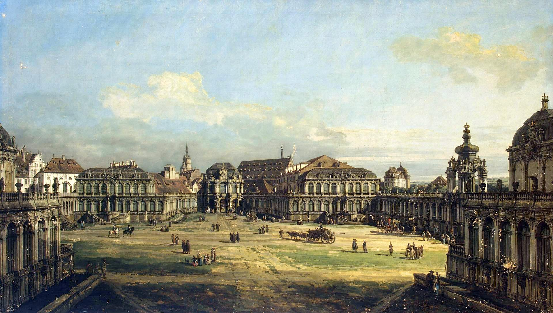 Bernardo Bellotto – The Hermitage Museum ГЭ-205. Title: Zwinger in Dresden.