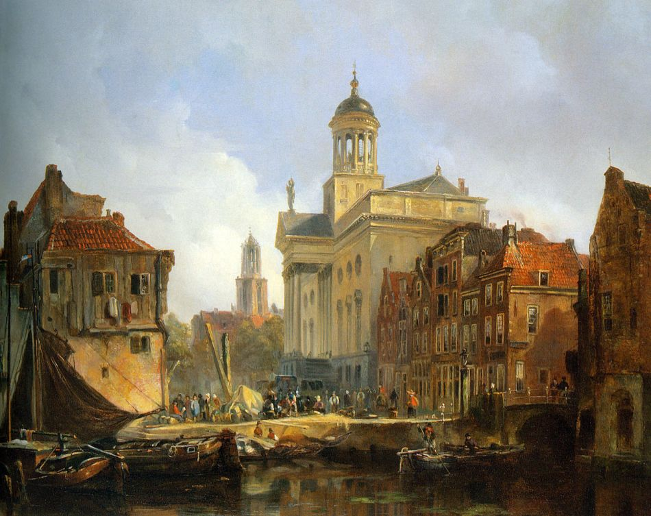 Johannes Bosboom – private collection. Title: A Capriccio View of Utrecht with the St. Augustinus Church and the Dom Tower Beyond. Date: c. 1840-1890. Materials: oil on panel. Dimensions: 44 x 60 cm. Source: http://commons.wikimedia.org/wiki/File:Bosboom_Johannes_View_Of_Utrecht_Oil_On_Panel.jpg.