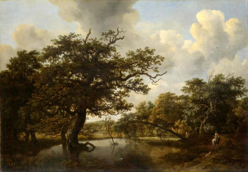 Meindert Hobbema – National Gallery of Victoria 2252-4. Title: The Old Oak. Date: 1662. Materials: oil on canvas. Dimensions: 101 x 144 cm. Nr.: 2252-4 Source: http://content.ngv.vic.gov.au/col-images/api/Fd100313/1280. I have changed the contrast and the colors of the original photo.