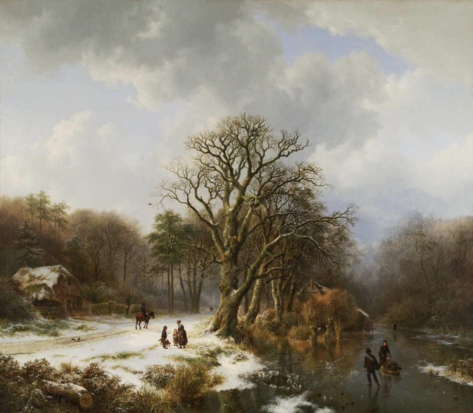 Barend Cornelis Koekkoek – Tylers Museum  KS 049. Title: Winterlandschap. Date: 1837. Materials: oil on canvas. Dimensions: 102.5 x 121 cm. Nr.: KS049. Source: http://www.teylersmuseum.nl/nl/collectie/schilderijen/ks-067-winterlandschap-barend-cornelis-koekkoek.
