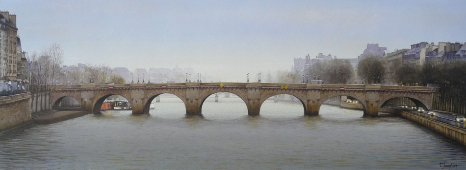 Thierry Duval  – private collection. Title: Le Pont Neuf 2009. Date: 2009. Materials: watercolor . Dimensions: 98 x 36 cm. Source: http://www.aquarl.free.fr/images/20150819231835_pontneuf2009.jpg.