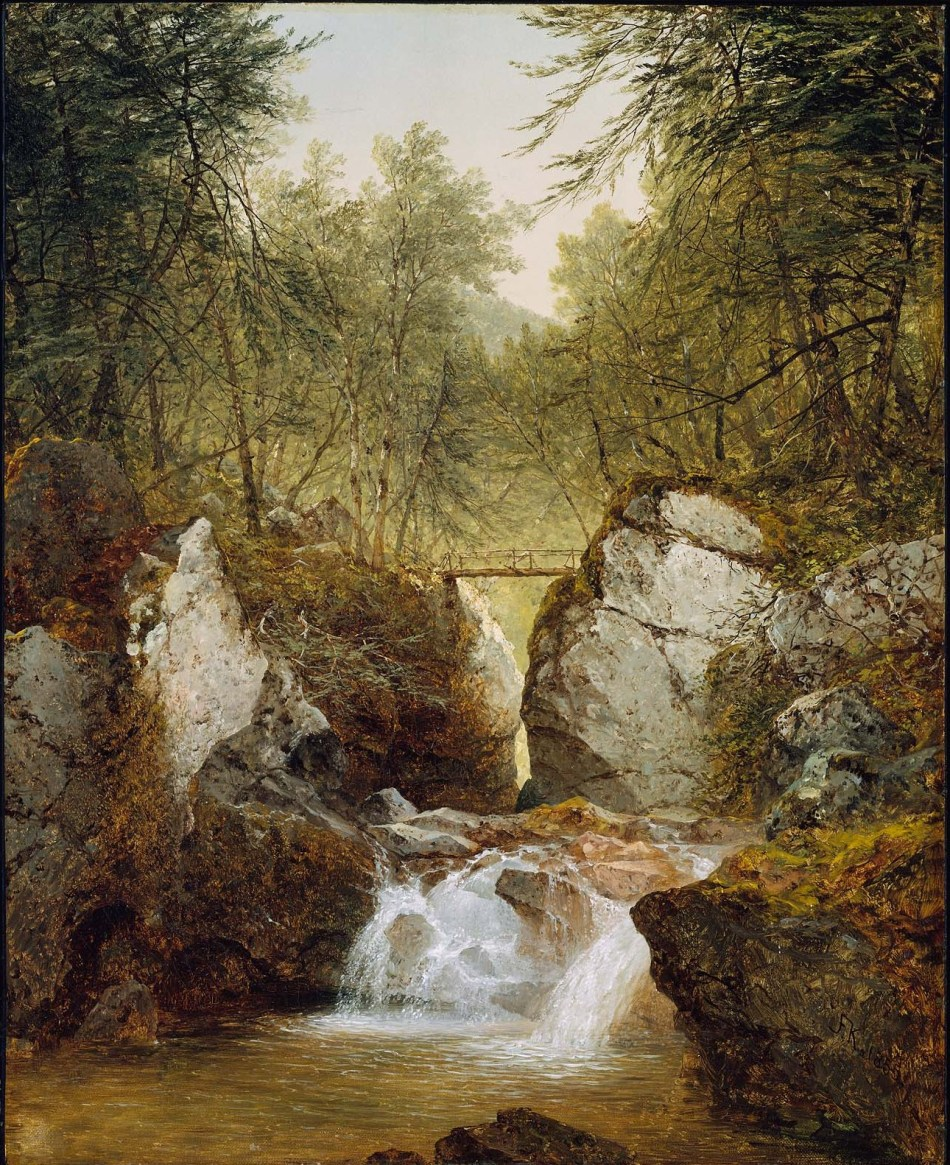 John Frederick Kensett – The Museum of Fine Arts (Boston) 48.437.  Title: Bash-Bish Falls, Massachusetts. Date: 1855. Materials: oil on canvas. Dimensions: 75.9 x 61.3 cm. Nr.: 48.437. Source: http://www.mfa.org/collections/object/bash-bish-falls-massachusetts-33184.