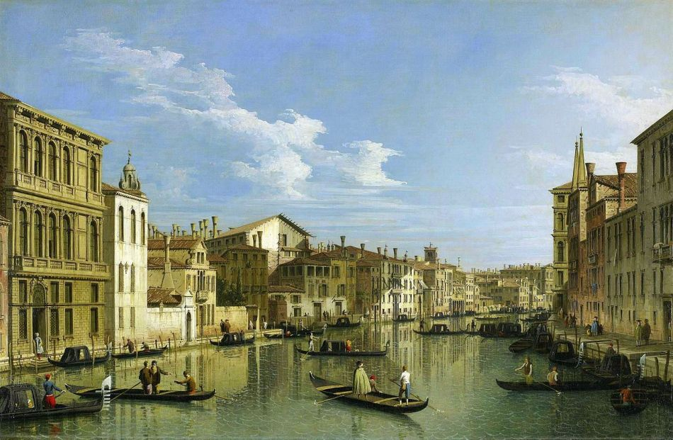 Canaletto – The Minneapolis Institute of Art 68.41.11. Title: The Grand Canal in Venice from Palazzo Flangini to Campo San Marcuola. Date: c. 1640. Materials: oil on canvas. Dimensions: 61.3 x 92.4 cm. Nr.: 68.41.11. Source: https://commons.wikimedia.org/wiki/File:Canaletto_(Giovanni_Antonio_Canal)_-_The_Grand_Canal_in_Venice_from_Palazzo_Flangini_to_Campo_San_Marcuola_-_68.41.11_-_Minneapolis_Institute_of_Arts.jpg. I have changed the light, contrast and colors of the original photo.