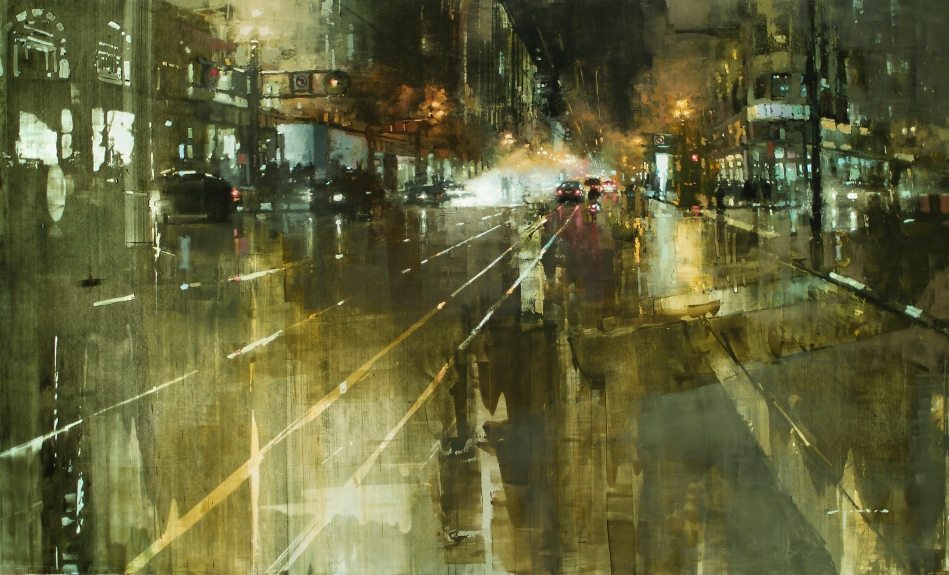 Jeremy Mann – private collection. Title: The Market St. Steamvent. Date: 2012. Materials: oil on panel. Dimensions: 152.4 x 91.4cm. Source: http://static1.squarespace.com/static/51c15e1be4b03a0f7c9daece/522bbf0ae4b04287ea7843ed/522bca39e4b0a015e8d440ee/1378701289168/the+market+street+steamvent.jpg?format=2500w