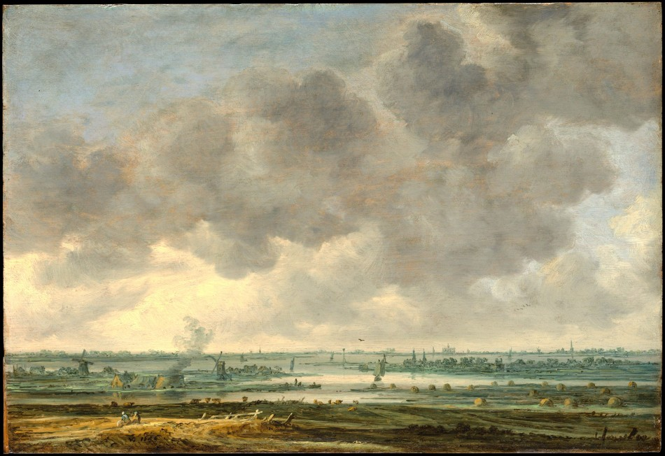 Jan van Goyen – The Metropolitan Museum of Art 71.62. Title: View of Haarlem and the Haarlemmer Meer. Date: 1646. Materials: oil on wood. Dimensions: 34.6 x 50.5 cm. Nr.: 71.62. Source: http://images.metmuseum.org/CRDImages/ep/original/DP146495.jpg. I have changed the light of the original photo.