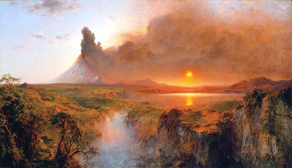 Frederic Edwin Church – Detroit Institute of Arts 76.89. Title: Cotopaxi. Date: 1862. Materials: oil on canvas. Dimensions: 121.9 x 215.9 cm. Nr.: 76.89. Source: http://4.bp.blogspot.com/-XsXNb6cDgQI/UBUYqel7v9I/AAAAAAAABWs/YcOM049c3rM/s1600/Edwin+Church+Cotopaxi_1862.jpg