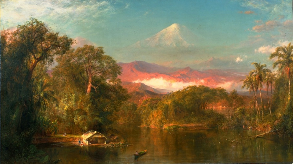 Frederic Edwin Church – Huntington Library and Art Gallery 89.1. Title: Chimborazo. Date: 1864. Materials: oil on canvas. Dimensions: 121.9 x 213.4 cm. Nr.: 89.1. Source: https://upload.wikimedia.org/wikipedia/commons/thumb/1/1c/Frederic_Church_Chimborazo.jpg/1280px-Frederic_Church_Chimborazo.jpg. I have changed the contrast of the original photo.