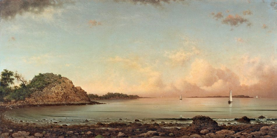 Martin Johnson Heade – Museo Thyssen-Bornemisza 577. TitleSinging Beach, Manchester. Date: 1862. Materials: oil on canvas. Dimensions: 63.5 x 127 cm. Acquisition date: 1919. Nr.: 577 (1985.9). Source: http://www.museothyssen.org//img/obras_grande/1985.9.jpg. I have changed the contrast of the original photo.